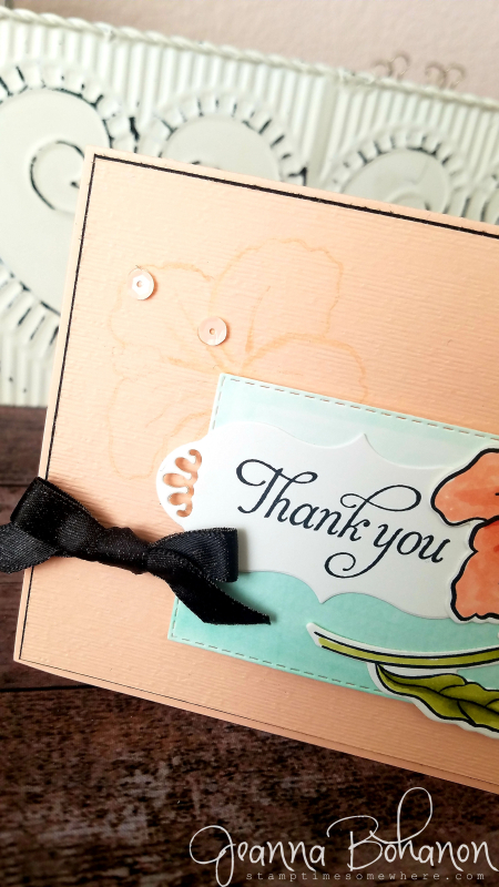#tgifc186 Stampin' Up! Humming Along by Jeanna Bohanon detail