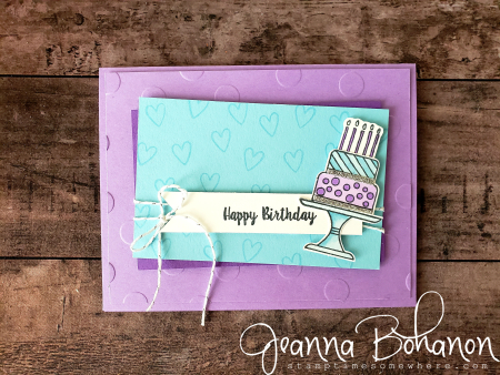 #tgifc194 Stampin' Up! Piece of cake Jeanna Bohanon avid