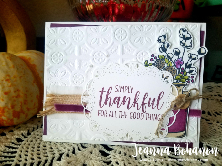 #tgifc181 Stampin' Up! Country Home by Jeanna Bohanon
