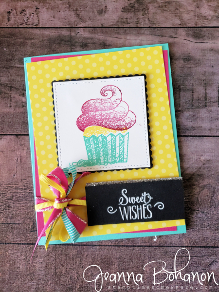 #tgifc197 Stampin' Up! Hello Cupcake by Jeanna Bohanon