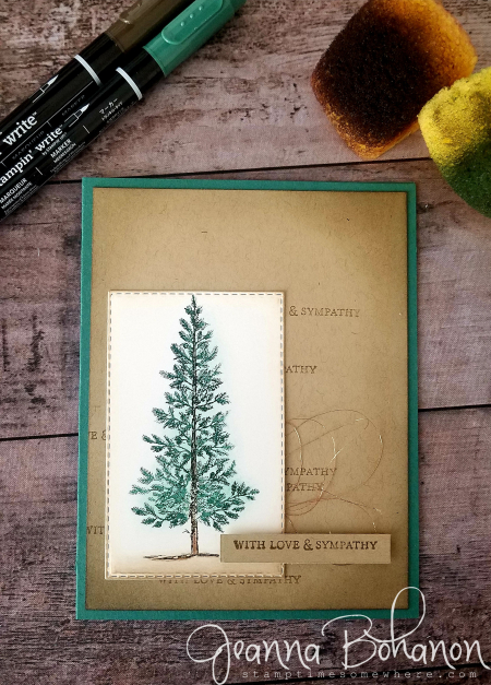 #tgifc187 Stampin' Up! lovely as a Tree sympathy by Jeanna Bohanon