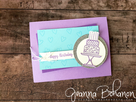 #tgifc194 Stampin' Up! Piece of cake Jeanna Bohanon casual