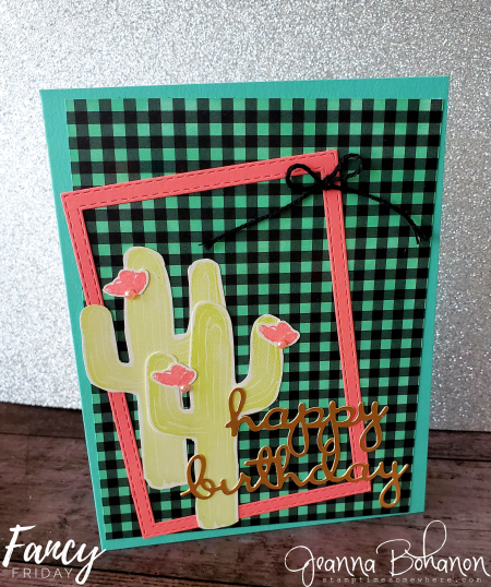 Fancy Friday Stampin' Up! Flowering Desert by Jeanna Bohanon