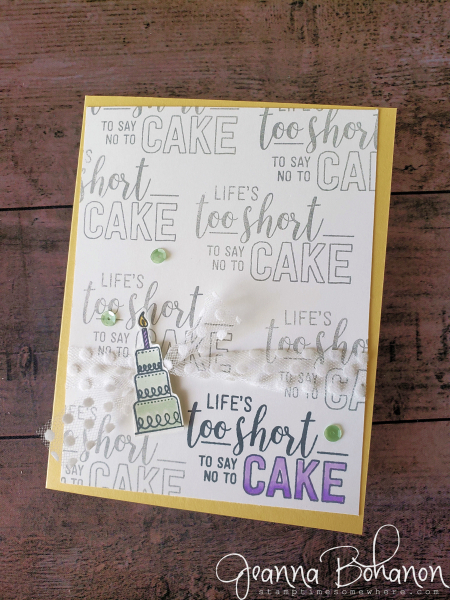 #tgif201 color challenge stampin' up by Jeanna Bohanon