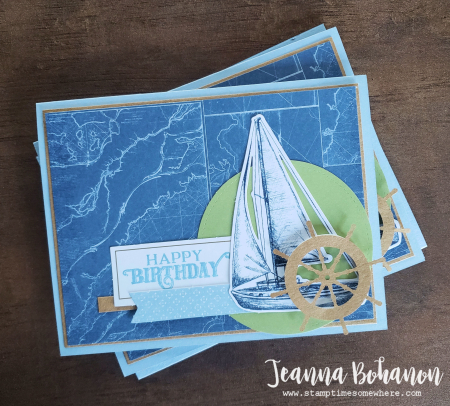 Paper Pumpkin Thing Blog Hop Stampin' Up! On My Mind boat by Jeanna Bohanon