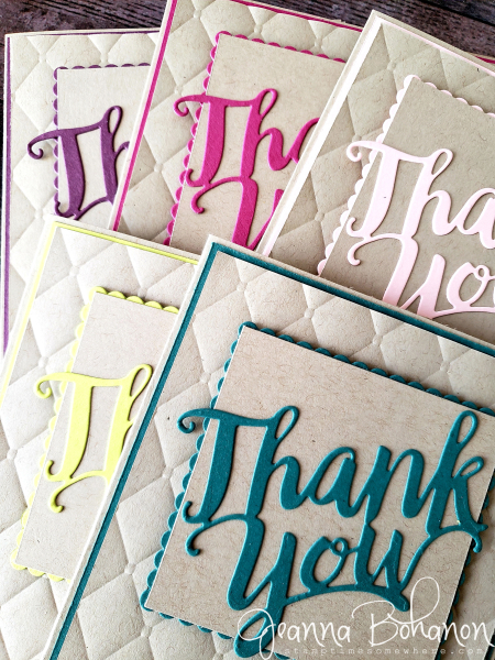 WCBH 4-1 Stampin' Up! 17-19 In Color Thank You cards Jeanna Bohanon detail