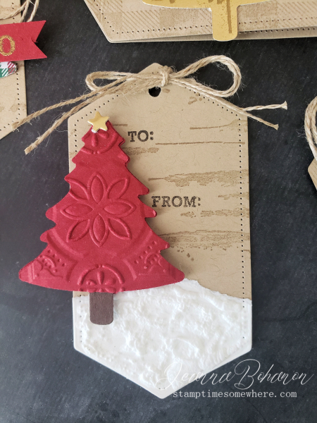 Fancy Friday #tgifc235 Stampin' Up! Wrapped in Plaid Tags by Jeanna Bohanon 2
