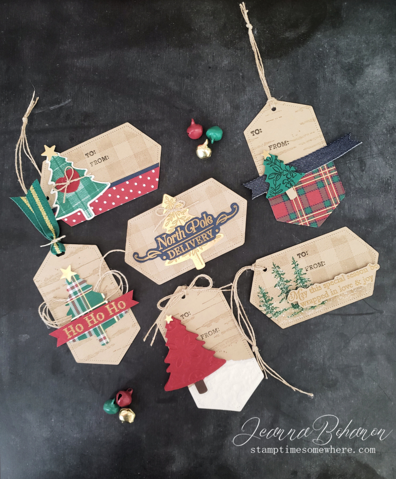 Fancy Friday #tgifc235 Stampin' Up! Wrapped in Plaid Tags by Jeanna Bohanon