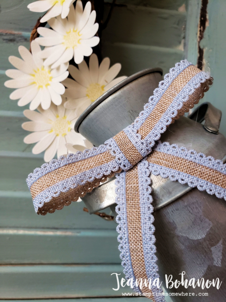OSAT Down on the Farm Stampin' Up! Daisy Lane bow by Jeanna Bohanon