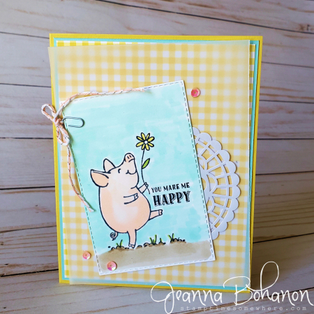 #tgif204 Stampin' Up! This Little Piggy by Jeanna Bohanon