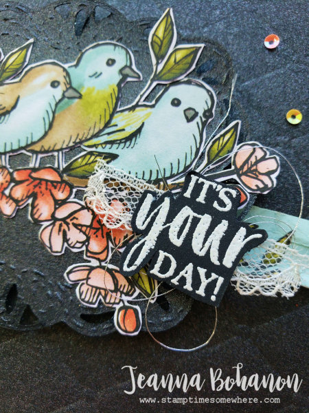 #tgifc225 Stampin' Up! Bird Ballad by Jeanna Bohanon 2