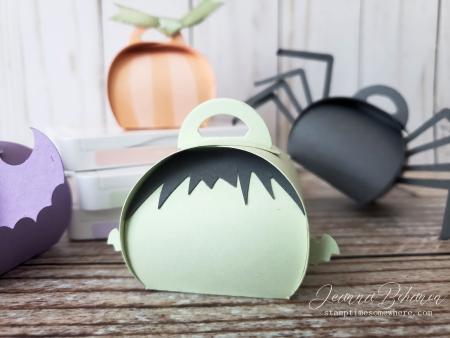 OSAT Blog Hop Spooktacular Halloween Mini Frankenstein Curvy Keepsake Boxes Jeanna Bohanon