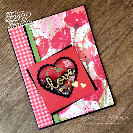 Fancy Friday Shake It Challenge Stampin' Up! Jeanna Bohanon