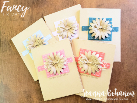 AUG-19 Fancy Friday Stampin' Up! Daisy Lane set by Jeanna Bohanon
