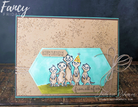 Fancy Friday Stampin' Up! The Gang's All Meer by Jeanna Bohanon