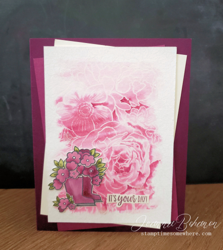 #tgifc245 Stampin' Up! Under my Umbrella by Jeanna Bohanon