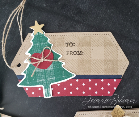 Fancy Friday #tgifc235 Stampin' Up! Wrapped in Plaid Tags by Jeanna Bohanon 1