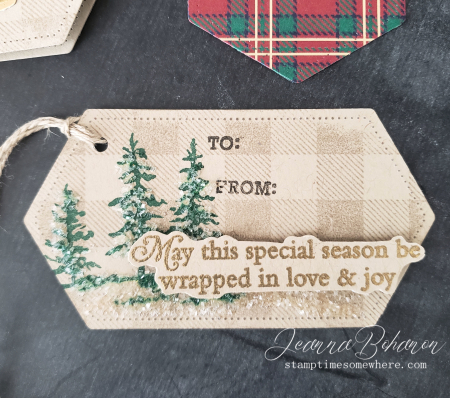 Fancy Friday #tgifc235 Stampin' Up! Wrapped in Plaid Tags by Jeanna Bohanon 3