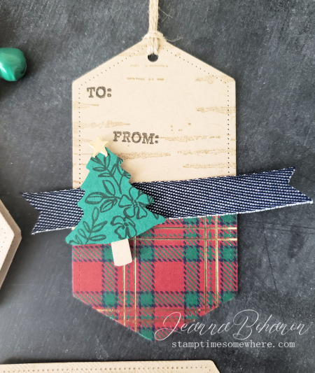 Fancy Friday #tgifc235 Stampin' Up! Wrapped in Plaid Tags by Jeanna Bohanon 4