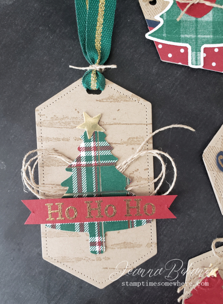 Fancy Friday #tgifc235 Stampin' Up! Wrapped in Plaid Tags by Jeanna Bohanon 6