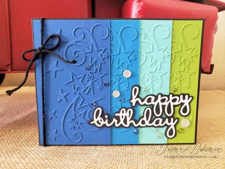 OSAT Blog Hop Sixteen Candles birthday card by Jeanna Bohanon