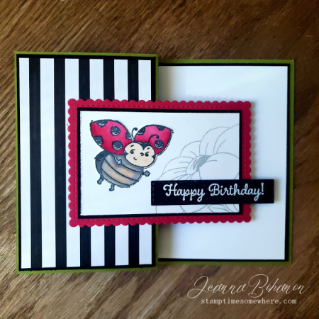 #tgifc254 Stampin' Up! Little Ladybug by Jeanna Bohanon