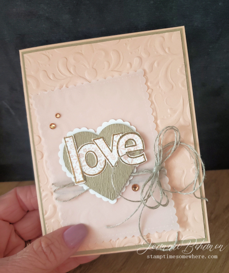 Paper Pumpin Thing I'll Be Yours card Jeanna Bohanon