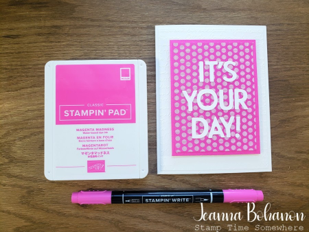 Creation Station Stampin' Up! Magenta Madness by Jeanna Bohanon