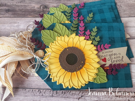 #tgifc291 Stampin' Up! Celebrate Sunflowers tag by Jeanna Bohanon