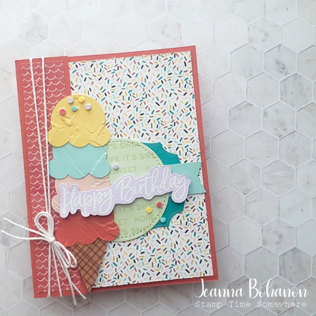 OSAT Stampin' Up! Sweet Ice Cream Card Jeanna Bohanon