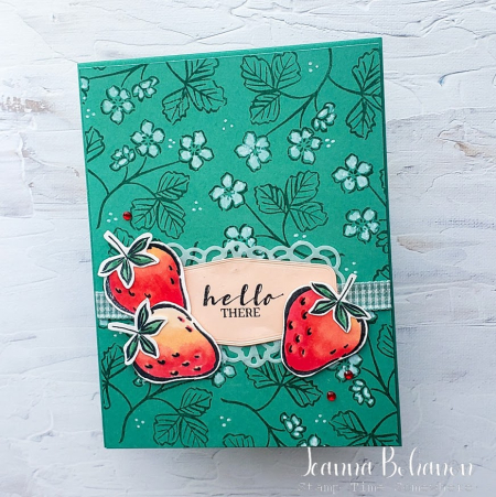 WCBH Technique Stampin' Up! Sweet Strawberry Jeanna Bohanon