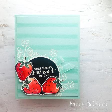 #tgifc316 Stampin' Up! Sweet Strawberry Jeanna Bohanon
