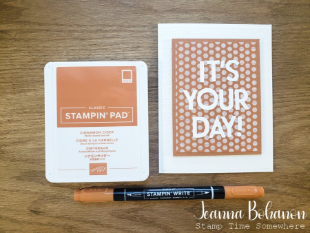 Creation Station Stampin' Up! Cinnamon Cider by Jeanna Bohanon
