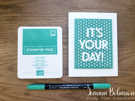 Creation Station Stampin' Up! Just Jade by Jeanna Bohanon