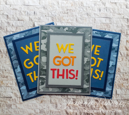 OSAT Blog Hop Stampin' Up! We Got This cards by Jeanna Bohanon