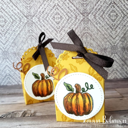 Hello Pumpkin boxes by Jeanna Bohanon