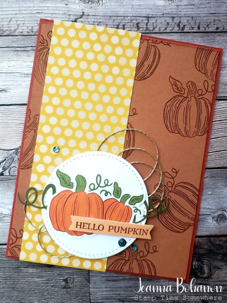 Hello Pumpkin Card by Jeanna Bohanon