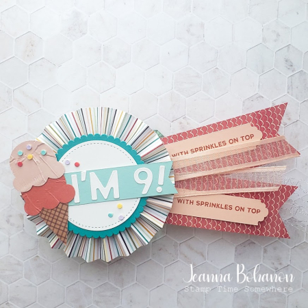 OSAT Stampin' Up! Sweet Ice Cream Button Jeanna Bohanon