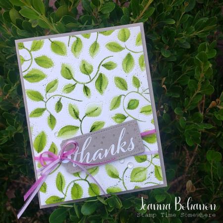 #tgifc323 Stampin' Up! Stitched Greenery Jeanna Bohanon