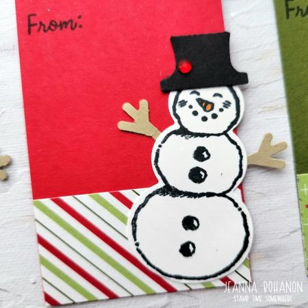 OSAT Step It Up Stampin' Up! Snowman Season tag 1 Jeanna Bohanon