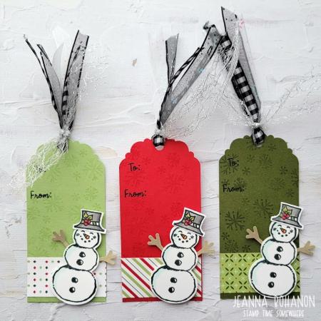 OSAT Step It Up Stampin' Up! Snowman Season tags 2 Jeanna Bohanon