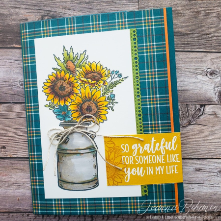 Stampin' Fancy Friday-Stampin' Up! Country Home Jar of Flowers by Jeanna Bohanon