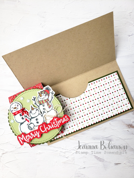 OSAT Stampin' Up! Snowman Season Card Holder 2 Jeanna Bohanon