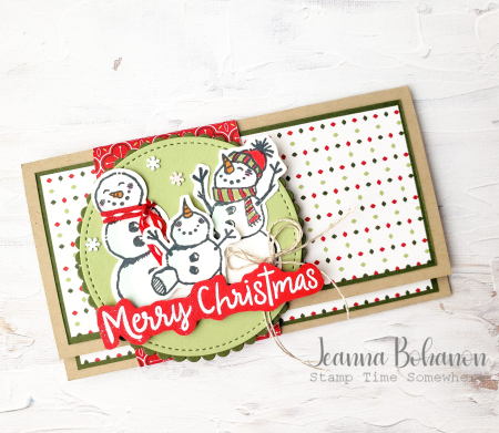 OSAT Stampin' Up! Snowman Season Card Holder 1 Jeanna Bohanon