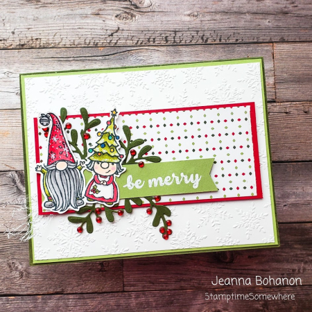 #tgifc294 Stampin' Up! Gnome for the Holidays by Jeanna Bohanon