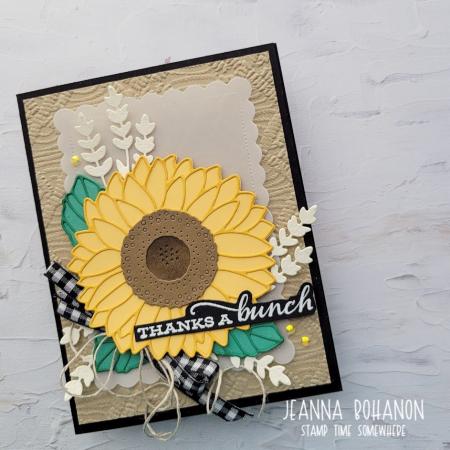 Creation Station Stampin' Up! Sunflowers Jeanna Bohanon