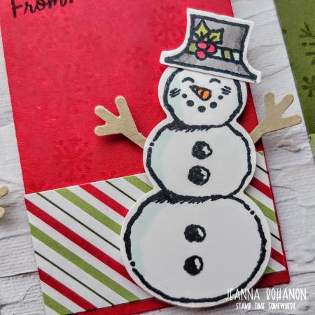 OSAT Step It Up Stampin' Up! Snowman Season tag 2 Jeanna Bohanon